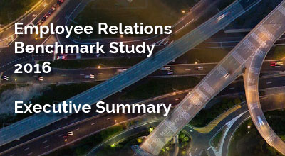 The 2016 HR Acuity Employee Relations Benchmark Study: Executive Summary