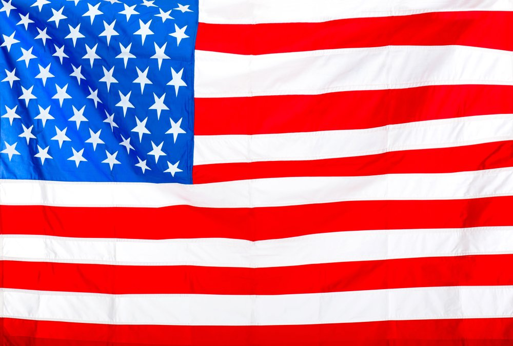 Flag of the USA to be used as background