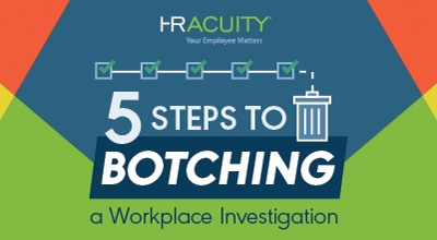 Infographic - 5 Steps to Botching an Investigation